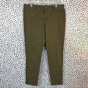 Michael Kors Olive Green Skinny Crop Pant Size 12